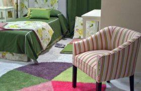 dormitorio juvenil con hermosa alfombra