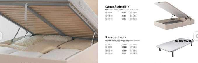 Catálogo de BASES CANAPÉS Carrefour   2018   SuDormitorio.com
