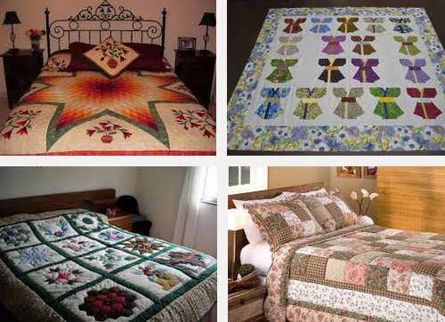 4 modelos de colchas patchwork