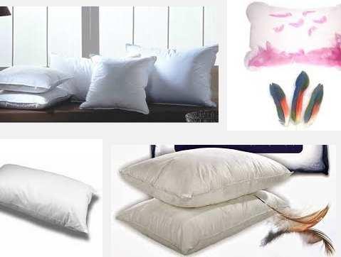 modelos almohadas de pluma