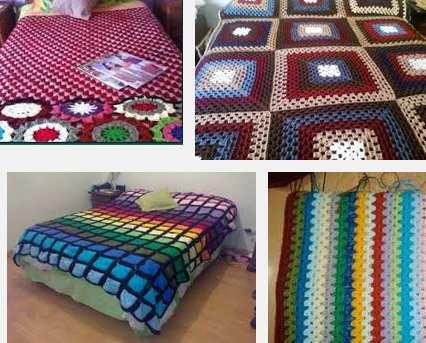 opciones en colchas de crochet
