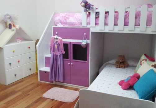 cama infantil para niña