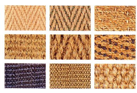 materiales para alfombras