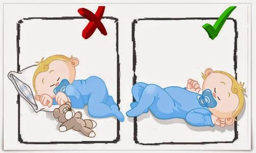 como poner almohadas para bebes