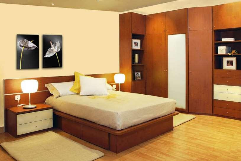 Camas de madera cama sonia con enchape cama desde a for Cama cama cama
