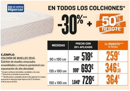 Colchones HIPERCOR   Catálogo de modelos   2018   SuDormitorio.com