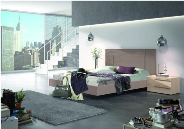 Dormitorio de matrimonio moka-roble nórdico