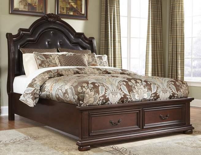 cama de roble king