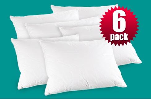 Paquetes de 6 almohadas