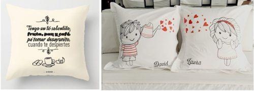 Almohadas para novios o, parejas