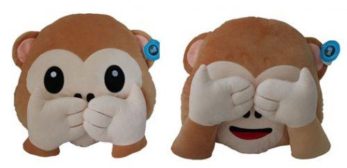 Almohadas con cara de mono