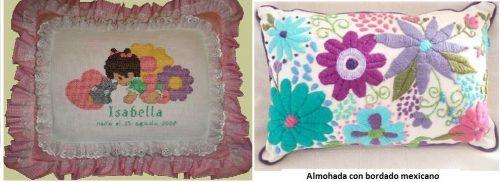 Almohadas infantiles y artesanales