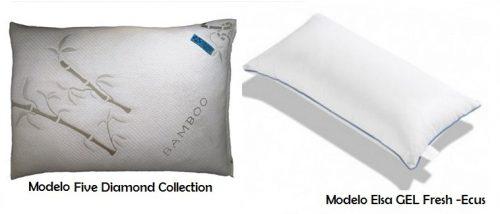 Almohadas de bambú y de gel