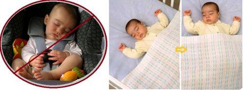 Evitar que el bebé duerma sentado