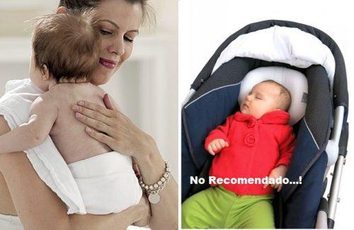 Cargar al bebé y colocarlo sobre hombros