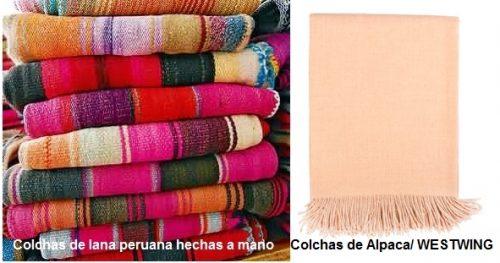 Colchas de lana peruanas