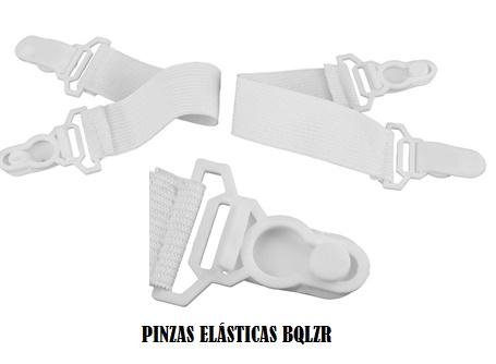 Pinza para sábanas plástica y elástica