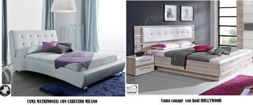 Modelos dormitorios MILANO y HOLLYWOOD