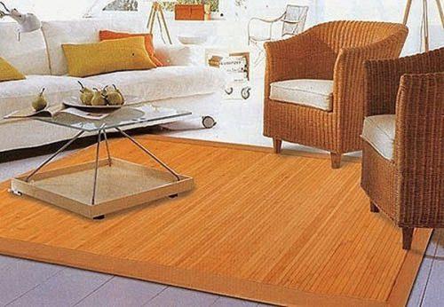 donde usar alfombras de bambu