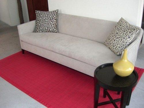 Combinación con alfombras de bambu