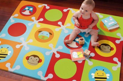 alfombra puzzle con animales y colores