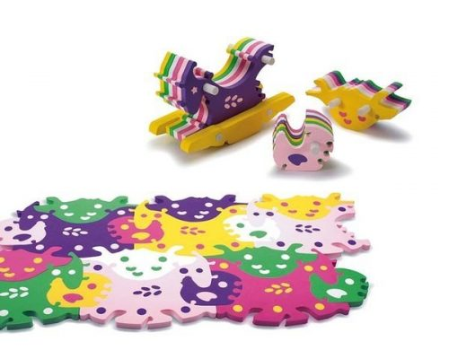 Alfombra puzzle colores