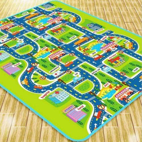 Alfombra puzzle pista