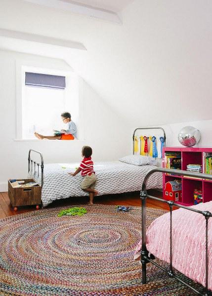 ubicar alfombras redondas
