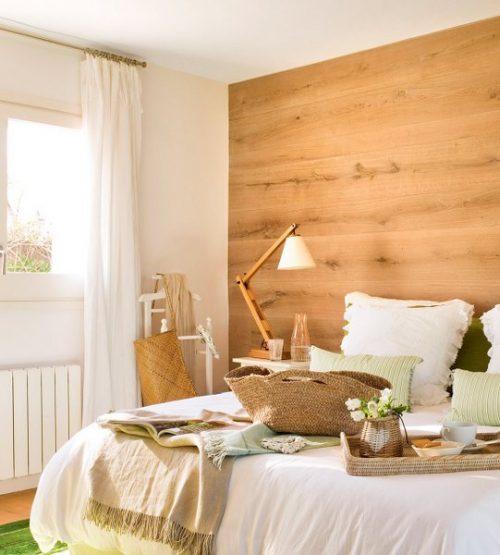 Cabeceras de madera de pared grande