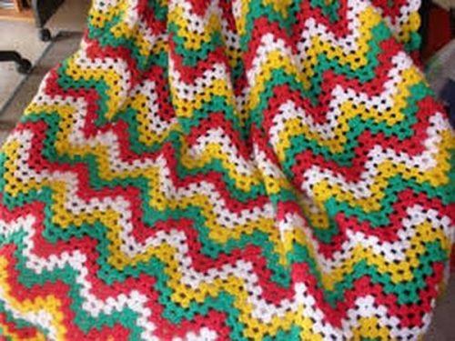 Mantas de ganchillo de lana