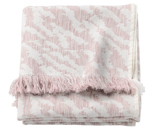 Manta IKEA rosa pastel