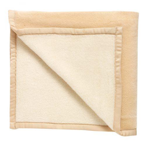 Manta de lana gruesa beige