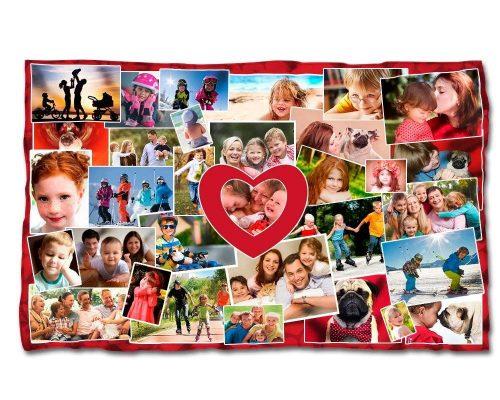 Manta personalizada con fotos